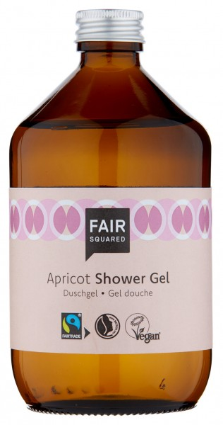 FAIR SQUARED Shower Gel Apricot 500 ml | Duschgel