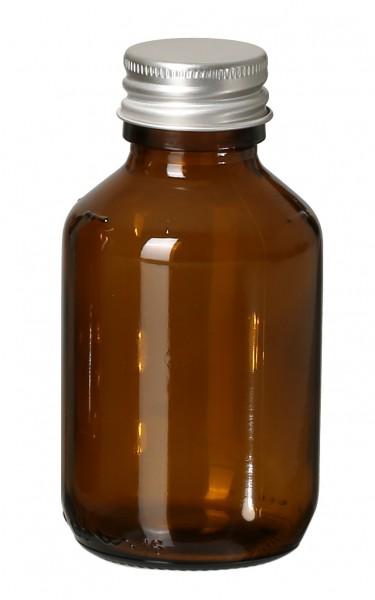 DIY Glasflasche Braun 100ml
