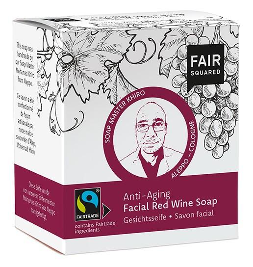 FAIR SQUARED Rotweinseife 2 x 80 gr.