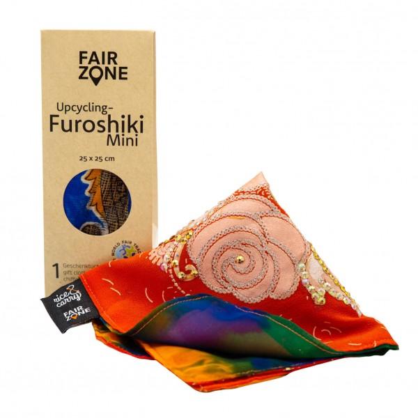 FAIR ZONE Furoshiki Geschenktuch S 25 x 25 cm
