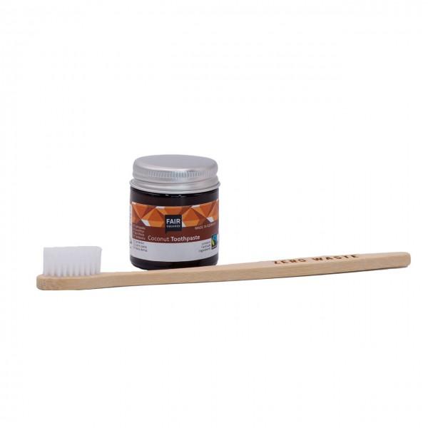 """Mundhygiene Set """"Durchbeißen"""" mit Zahncreme Coconut 25 g und Zahnbürste"""