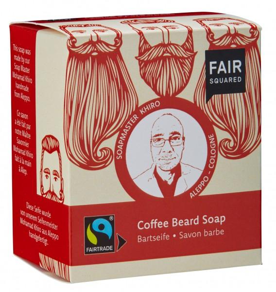 FAIR SQUARED Coffee Beardsoap / Bartseife 2x80gr.