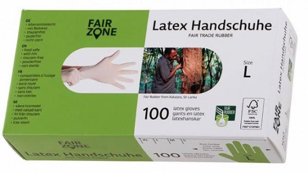 FAIR ZONE Einweg Latex Handschuhe